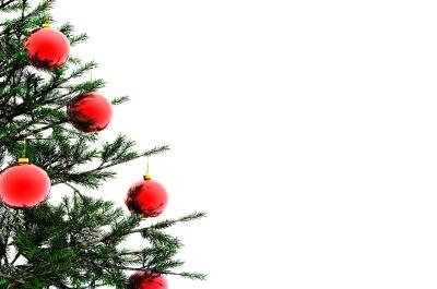 christmas tree with red bulbs 003 - Christmas Tree Bulbs