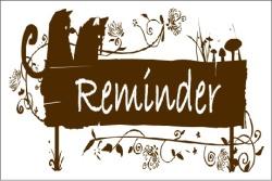 Reminder Card 001