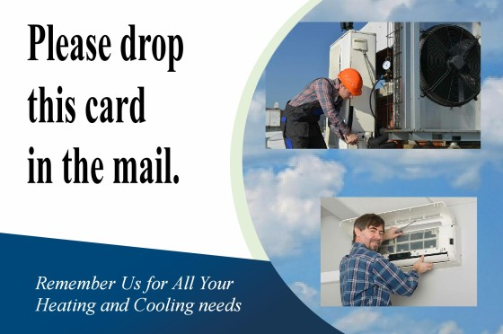 HVAC business customer opinion card